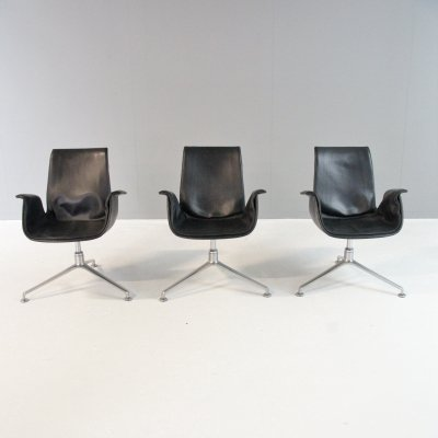 3 FK6727 Tulip lounge chairs by Fabricius & Kastholm for Alfred Kill International