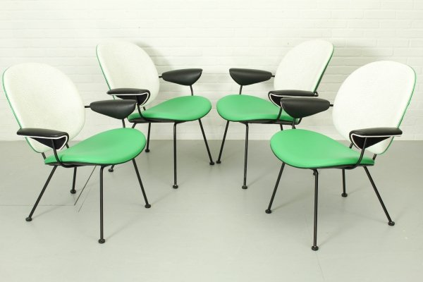 Set of 4 Kembo chairs by W.H. Gispen