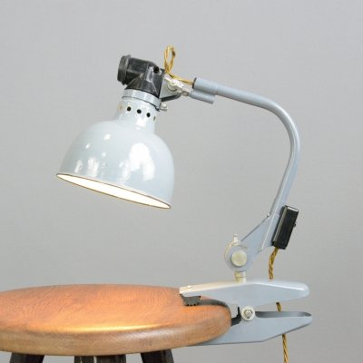 Clamp On Industrial Task Lamp by Rademacher, Circa 1950s