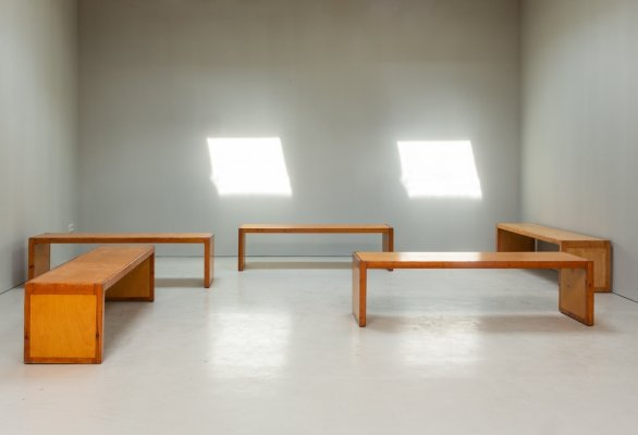 Set of 5 benches by Marc Dessauvage, 1960s