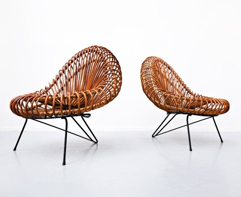 Pair of Chairs by Janine Abraham & Dirk Jan Rol for Rougier, 1950s