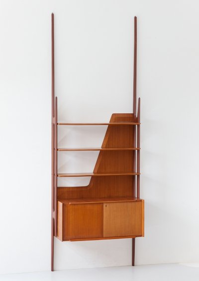 Wall Unit in Teak by Dassi, Italy 1950s