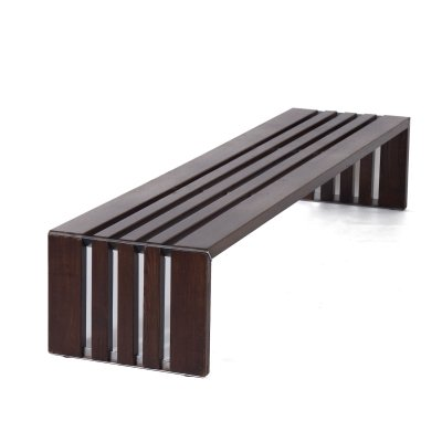 Slat Bench in Ash Wood by Walter Antonis for 't Spectrum, 1960s