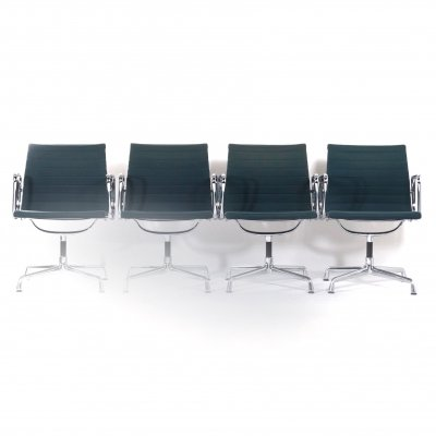 Set of 4 EA 107 Chairs by Charles & Ray Eames for Vitra, 1980s