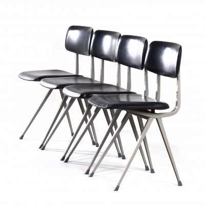 4 Result Chairs by Friso Kramer & Wim Rietveld for Ahrend de Cirkel, 1960s