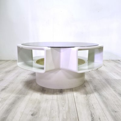 Space age round coffee table by Curver, Netherlands 1960s