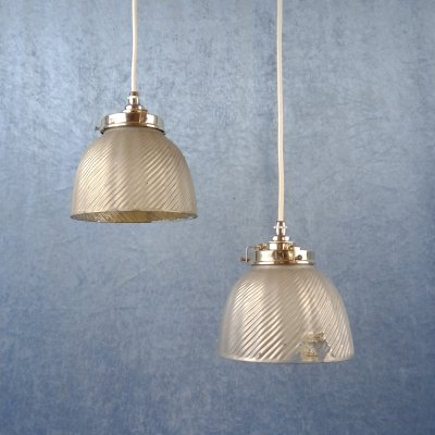 Pair of X-Ray reflector pendants by Curtis Lighting, Belgium 1950s