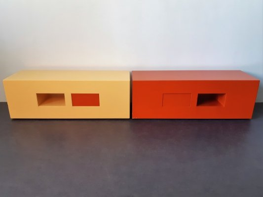 Set of 2 low tables by Montis, The Netherlands 1997