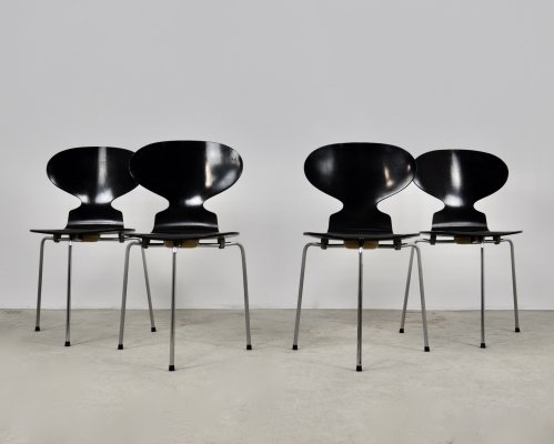 Set of 4 'Ant' Dining Chairs by Arne Jacobsen for Fritz Hansen, 1950s