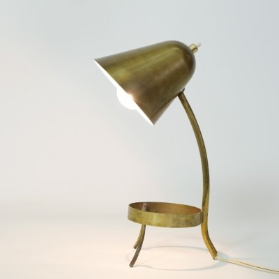 Little French brass lamp, 1950s