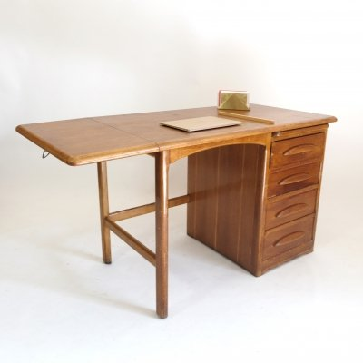 Desk with an extending leaf, 1950s