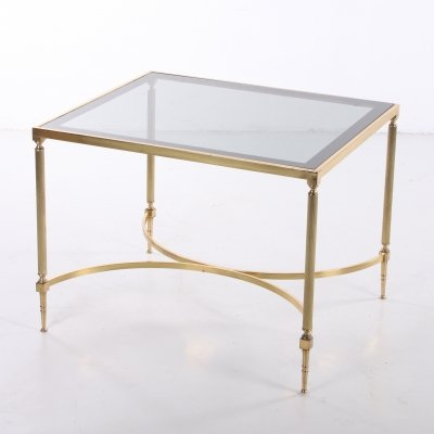 Golden Hollywood regency style side table, 1950s