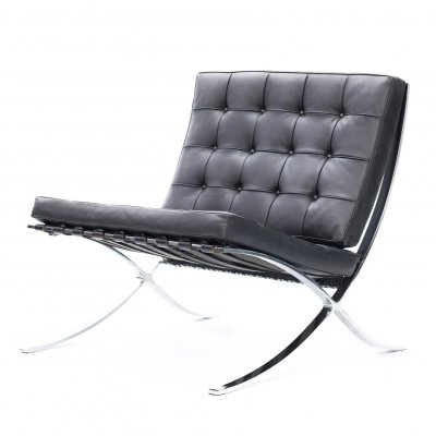 Barcelona chair by Mies van der Rohe for Knoll Studio, 1980s