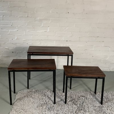 Set of 3 Nesting Tables by Cees Braakman, 1960's