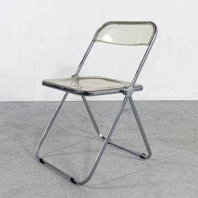 Lucite Plia folding chair by Giancarlo Piretti for Castelli, 1960s