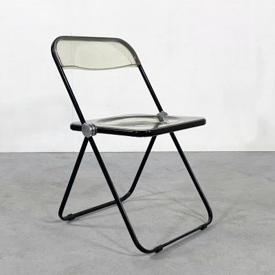 Black Frame Plia folding chair by Giancarlo Piretti for Castelli, 1960s