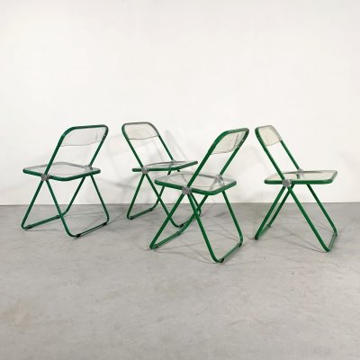 Green Frame Plia folding chair by Giancarlo Piretti for Castelli, 1960s