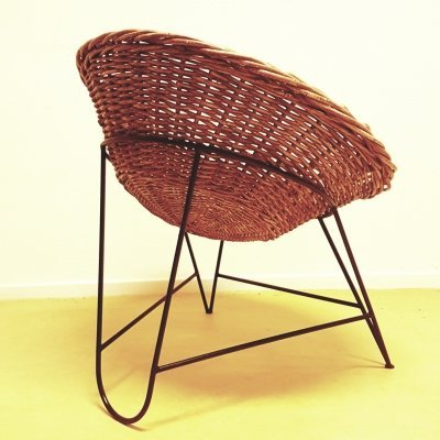 Woven basket chairs, GDR 1960s