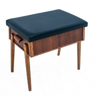 Footstool / seat with storage space, Denmark 1960s