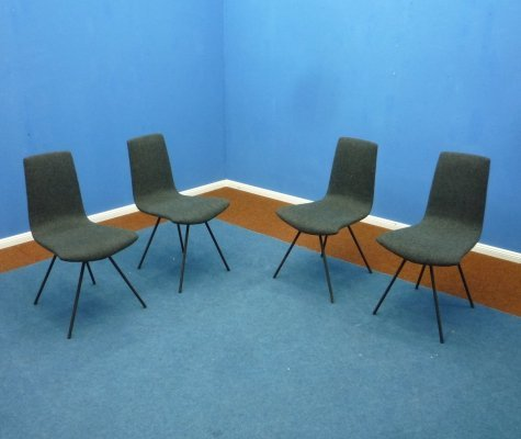 Set of 4 Hans Bellmann dining chairs, 1960s