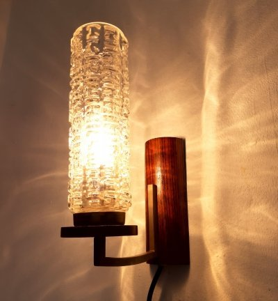 Leclaire & Schäfer wall lamp, 1950s