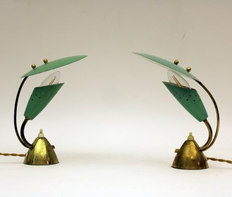 Pair of Desk lamps made by Homeshade Company Ltd. England, 1950s