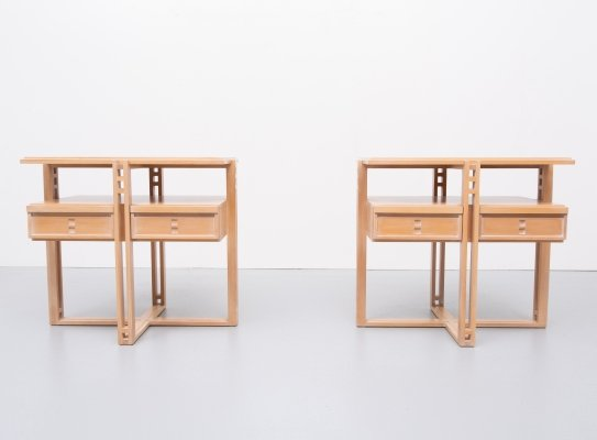 Pair of Galaxy serie side tables by Umberto Asnago for Giorgetti, 1950s