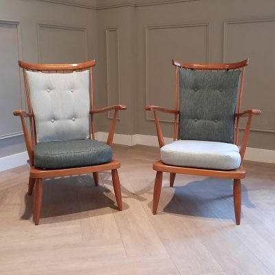 Set of 2 Lounge Chairs by Lucian R. Ercolani for Ercol, 1950s/1960s