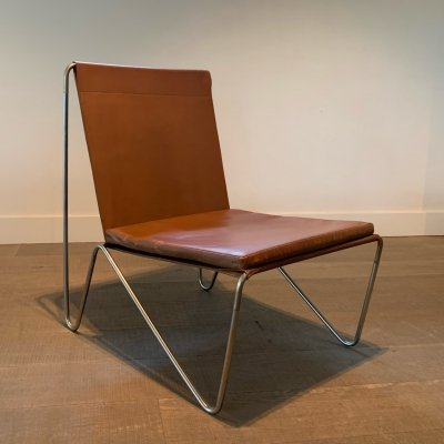 Leather Bachelor Chair by Verner Panton for Fritz Hansen 1953