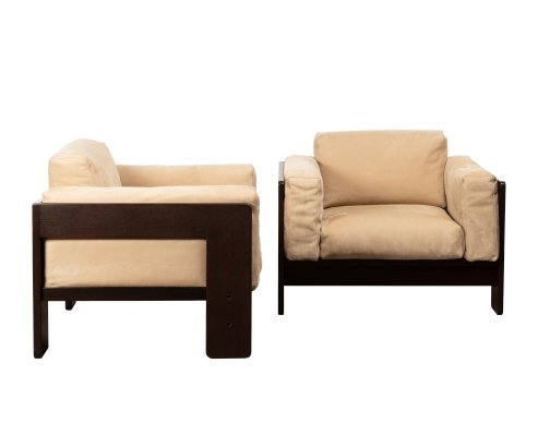 Pair of Bastiano lounge chairs by Tobia Scarpa & Afra Scarpa for Knoll, 1960s