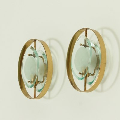 Pair of Sconces Model 2240 by Max Ingrand for Fontana Arte