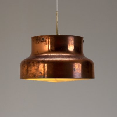 Large Copper Bumling Pendant Light by Anders Pehrson for Ateljé Lyktan, Sweden 1960s