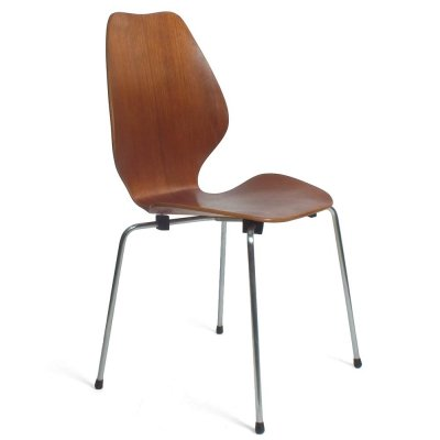 Set of 4 'City' dining chairs by Oivind Iversen for Westnofa Norway