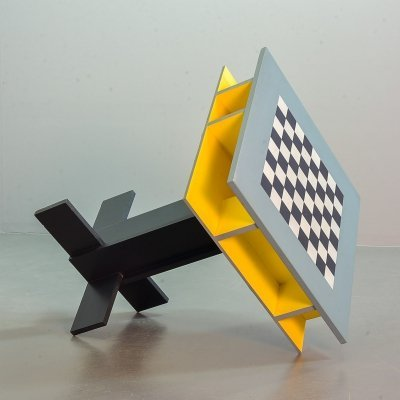 Peter Spaans Contemporary Art Dutch design Chess Board Gametable, 1990s