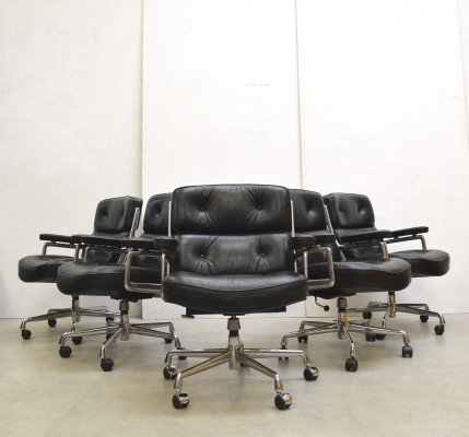 6 x ES104 Lobby office chair by Charles & Ray Eames for Vitra, 1970s