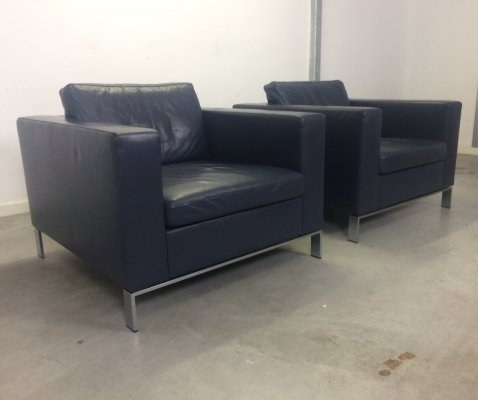 Pair of Foster 503 arm chairs by Norbert Foster for Walter Knoll, 1990s