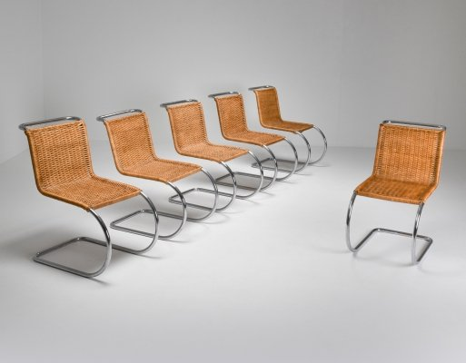 Marcel Breuer Bauhaus Dining Chairs for Thonet, 1970's