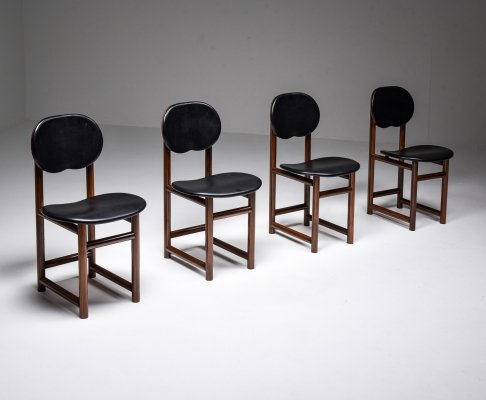 Mid Century Scarpa Dining Chairs, Italy, 1970's