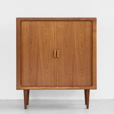 Midcentury Danish cabinet with tambour doors by Dyrlund, 1960s