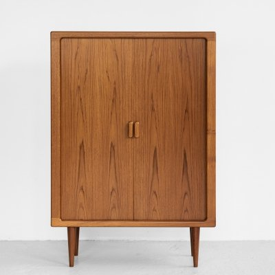 Midcentury Danish higher cabinet with tambour doors by Dyrlund, 1960s