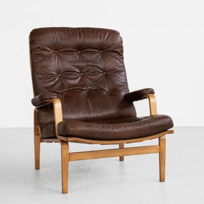 Midcentury Swedish easy chair by Bruno Mathsson for Dux, 1960s