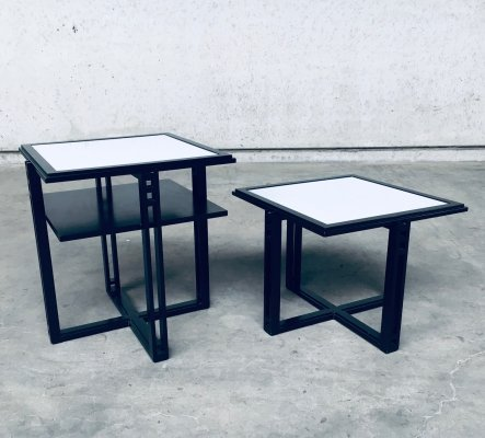 Galaxy Square Side Table set by Umberto Asnago for Giorgetti, Italy 1980's
