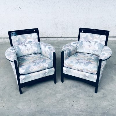 Galaxy 'Peggy' Low Armchair set by Umberto Asnago for Giorgetti, Italy 1990's