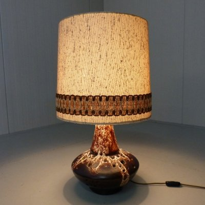 Large pottery table lamp, Germany 1960's