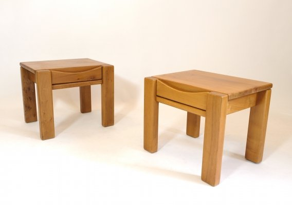 Pair of bedside tables by Maison Regain, 1970s