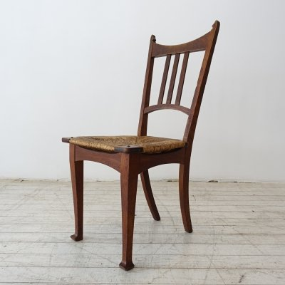 Mahogany side chair by Gustave Serrurier Bovy, Belgium