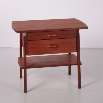 Danish Design Teak Side table with two drawers, 1960s