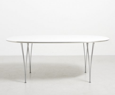Elliptical Dining Table by Piet Hein And Bruno Mathsson for Fritz Hansen, 1960's