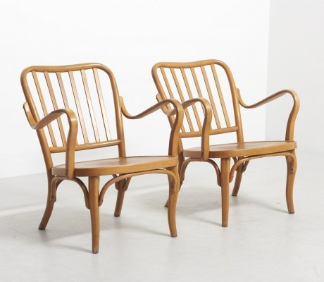 Set of Rare Thonet Lounge Chairs by Josef Frank, Austria 1930's