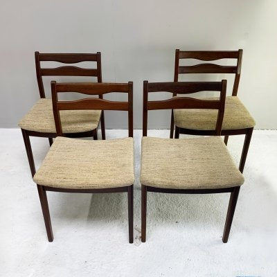 Set of 4 mid century dining chairs, 1960's